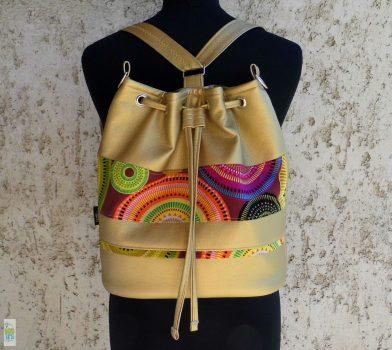 Női hátizsák /arany-mandalás