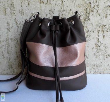 Női hátizsák - barna/lazac