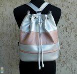 Női hátizsák / ezüst-lazac