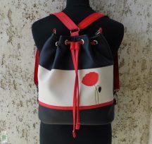 Pipacsos női hátizsák