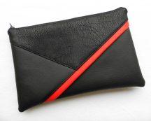 Borítéktáska piros paszpóllal
