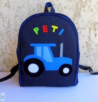 Kék traktoros hátizsák