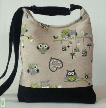 Szerelmes baglyok - íves táska