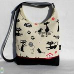 Macskás íves táska