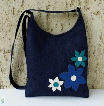 Farmer virágos íves táska