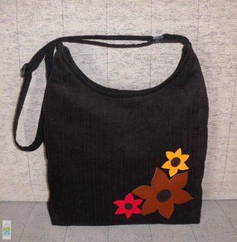 Virágos íves táska