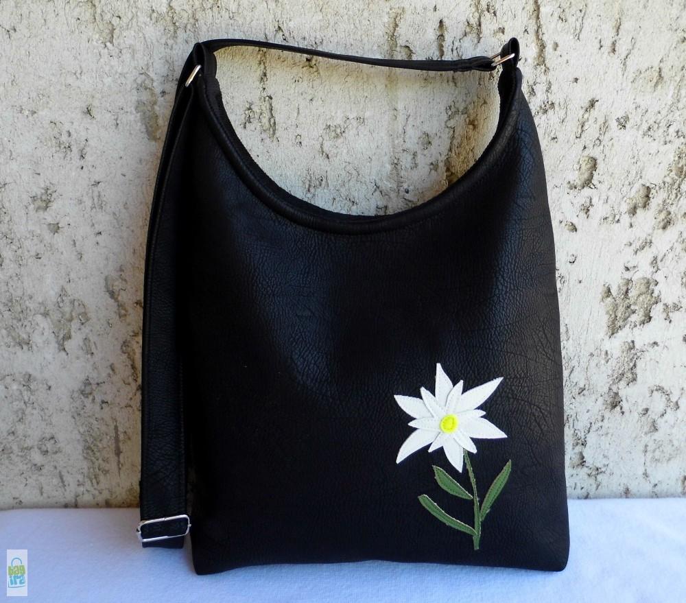 Textilbőr táska havasi gyopárral - BagiraDesign 9c12544bab