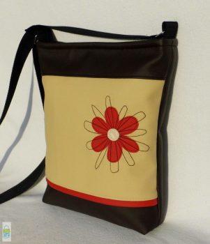Firkavirágos női táska / piros