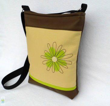 Firkavirágos női táska / lime