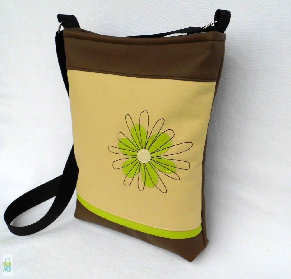 Firkavirágos női táska   lime - BagiraDesign 312b89dbc4