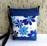 Kék virágos női táska