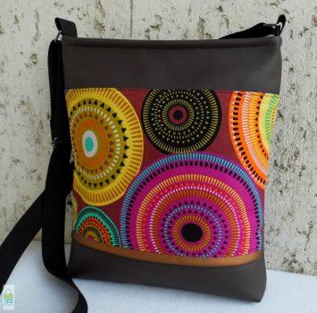 Mandalás női táska/ barna