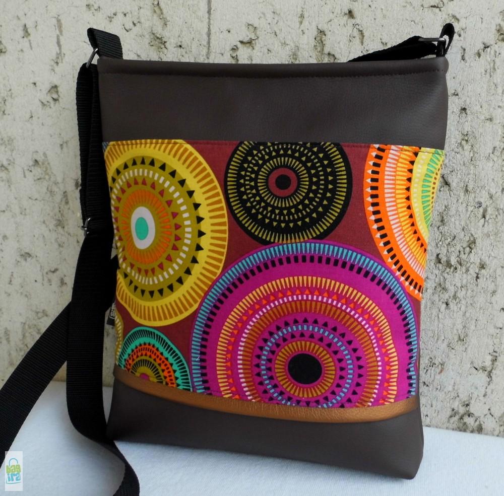 Mandalás női táska  barna - BagiraDesign 59b1d501a9