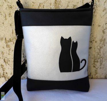 Cica románc - női táska/ezüst
