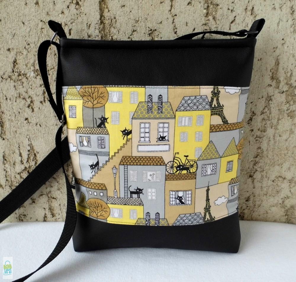 Párizsi macskák - női táska - BagiraDesign ccf017edea