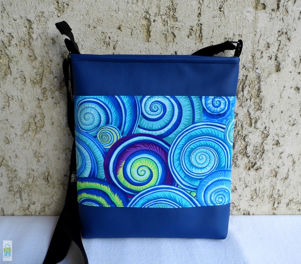 Csigás női táska  kék - BagiraDesign 7346931e83