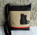 Cica románc - női táska/ beige