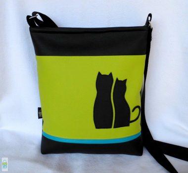 Cica románc - női táska/ lime