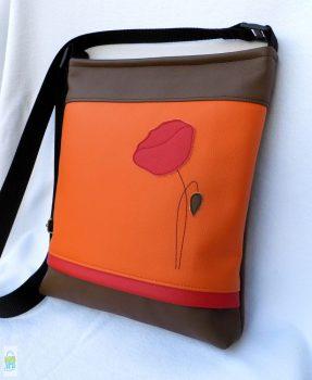 Pipacsos női táska / narancs