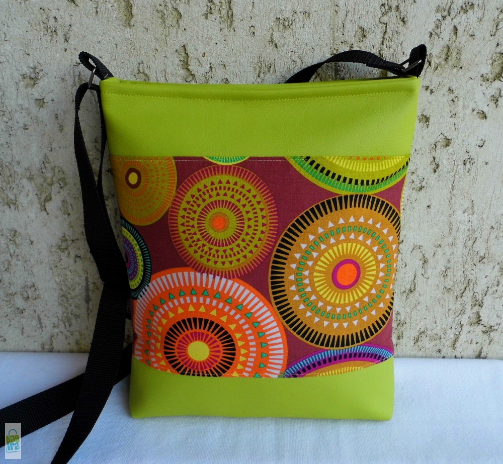Mandalás női táska  lime - BagiraDesign 2a0e23c6d5