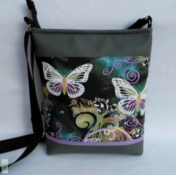 Lepkés női táska /szürke