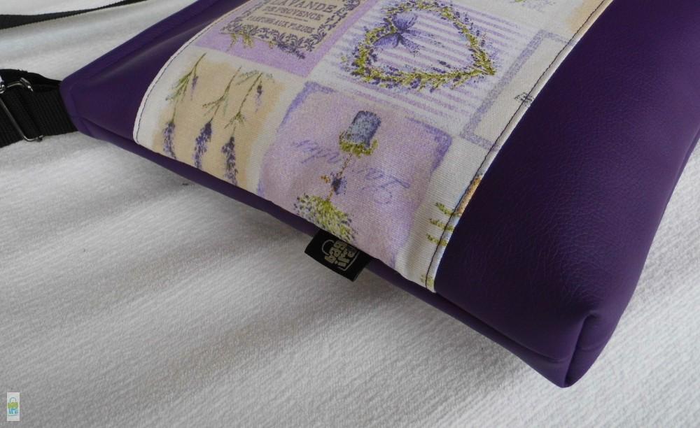 ad24182ad89c Levendulás női táska - BagiraDesign, egyedi tervezésű textiltáskák