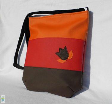 Színátmenetes női táska /piros