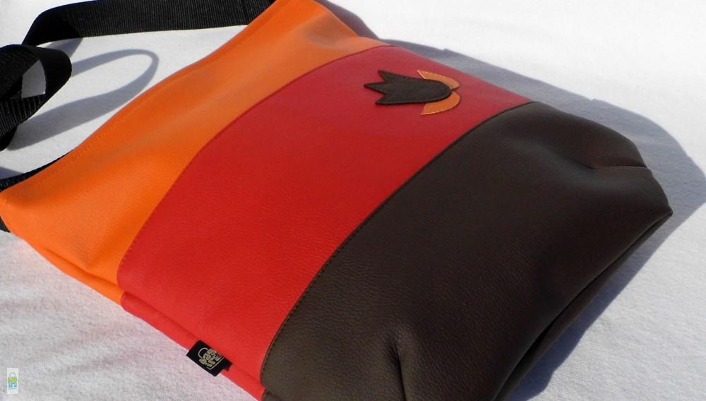 Színátmenetes női táska  piros - BagiraDesign 87693ee396