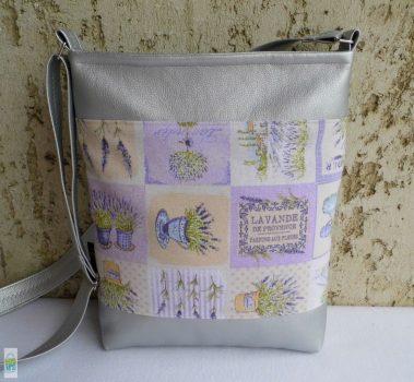 Levendulás női táska / ezüst