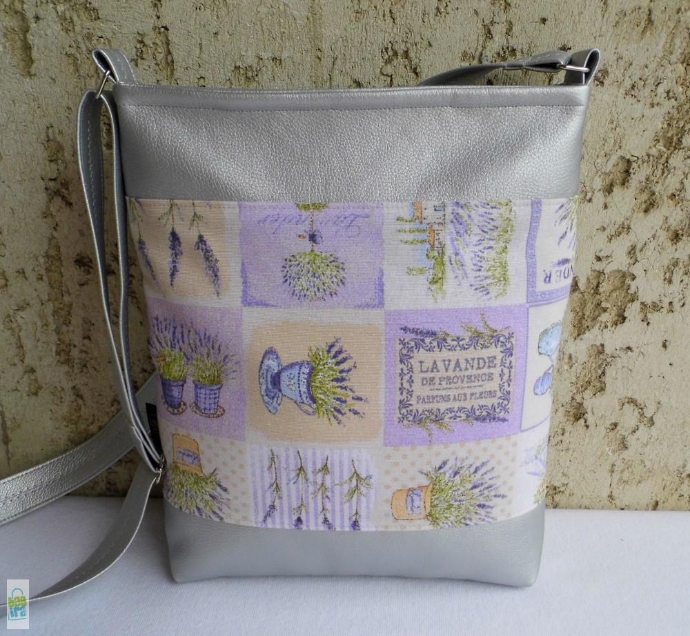 Levendulás női táska   ezüst - BagiraDesign b4926ed04f