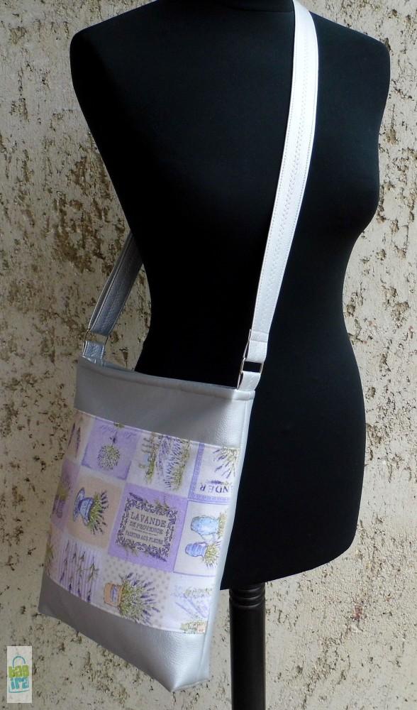 37bb9016c22a Levendulás női táska / ezüst - BagiraDesign, egyedi tervezésű ...