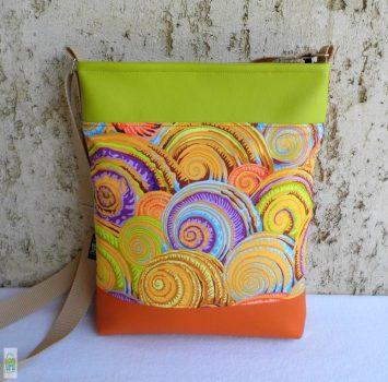 Csigás női táska / narancs