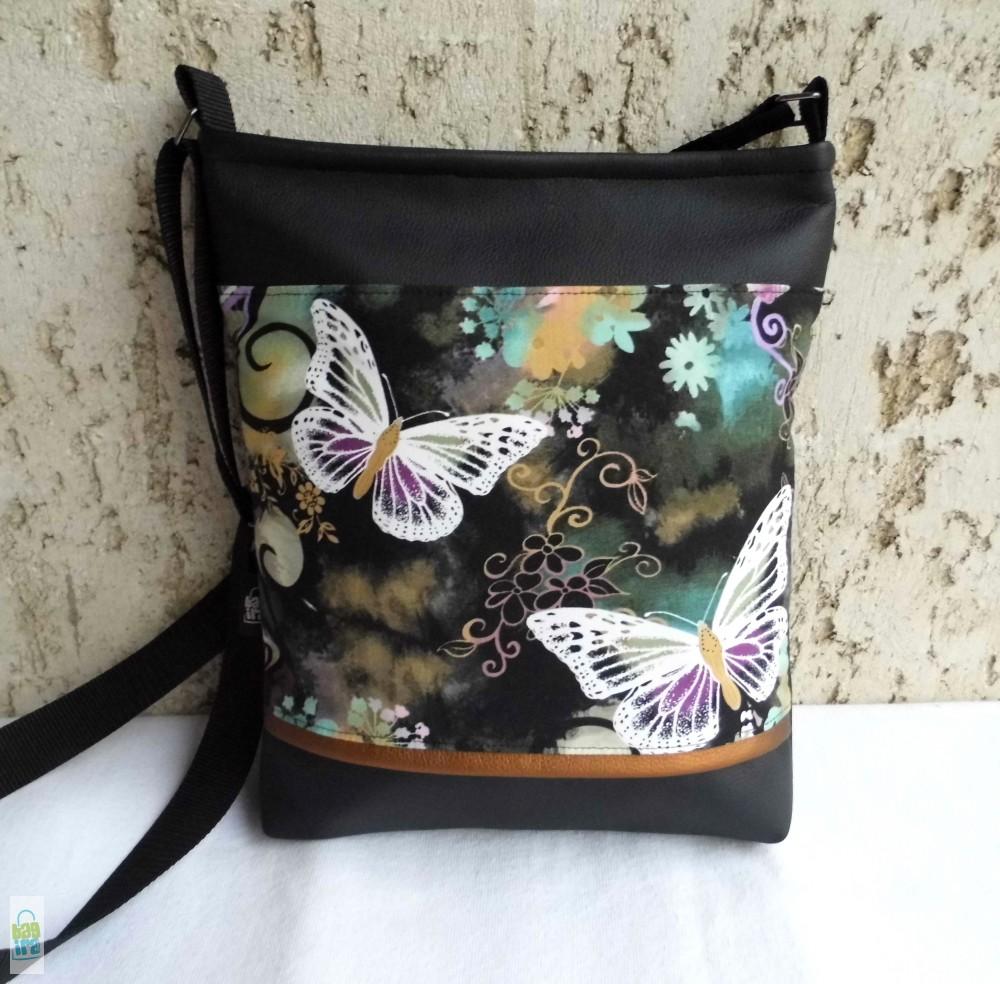 Lepkés női táska   fekete - BagiraDesign a96ed3f917