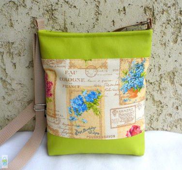 Romantikus női táska/ lime