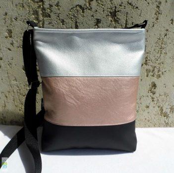 Háromszínű női táska