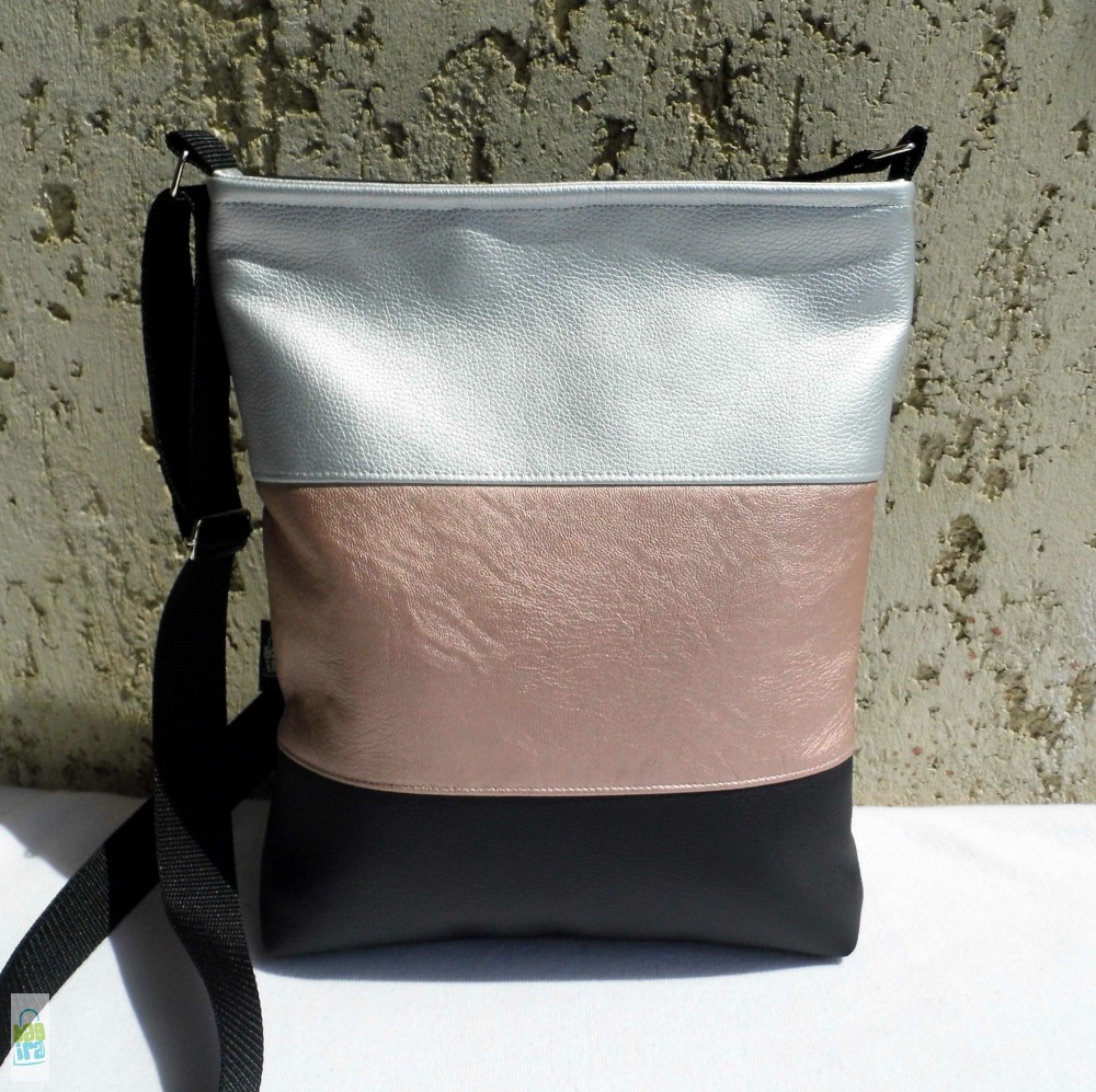 Háromszínű női táska - BagiraDesign 7b01714e7c