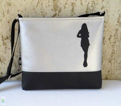 Női táska / fekete-ezüst