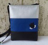 Tulipános női táska /kék