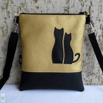 Cica románc - kistáska / arany