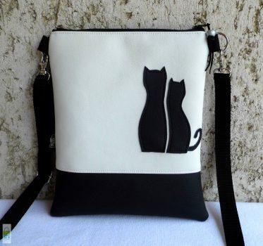 Cica románc - kistáska / fehér