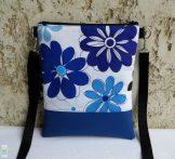 Virágos női kistáska / kék