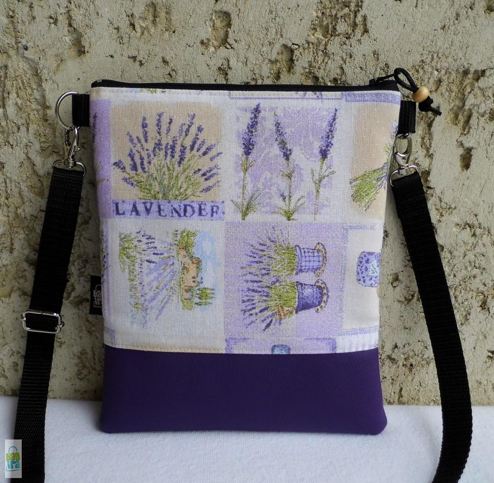 966345dca8f0 Levendulás női kistáska - BagiraDesign, egyedi tervezésű textiltáskák