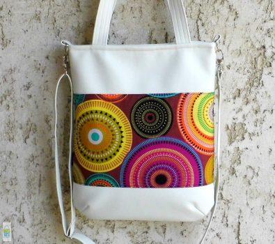 Mandalás pakolós táska/ fehér