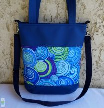Csigás pakolós táska/ kék